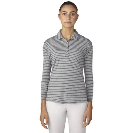 Tonal Stripe 3/4 Sleeve Polo