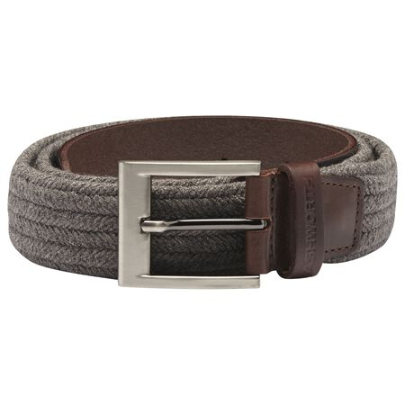 Cotton Weave Leather Belt